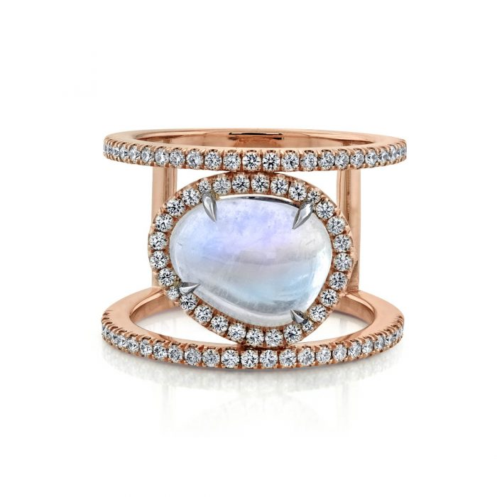 Moonstone siamond ring by Simone and Son