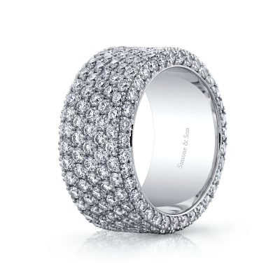 Mulit Pave Diamond Wedding Band