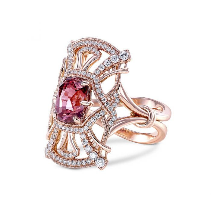 Simone and son Zircon diamond ring
