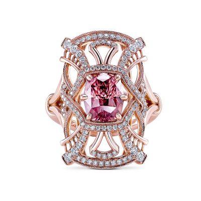 Simone and son Zircon diamond ring