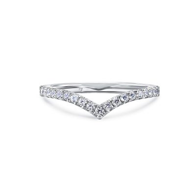Chevron Diamond Wedding Band By Simone and Son