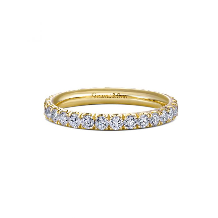Diamond Micro Pave Wedding band by Simone and son