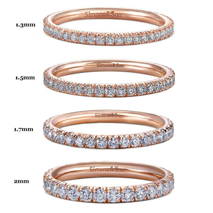 Diamond Micro Pave Comparison Chart by Simone and Son