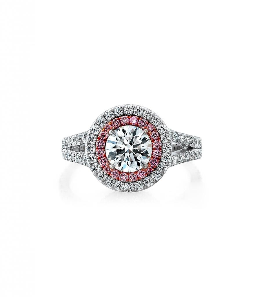 14k White Gold Pink Diamond Halo Engagement Ring Setting Simone Son Huntington Beach Ca 714 964 4012
