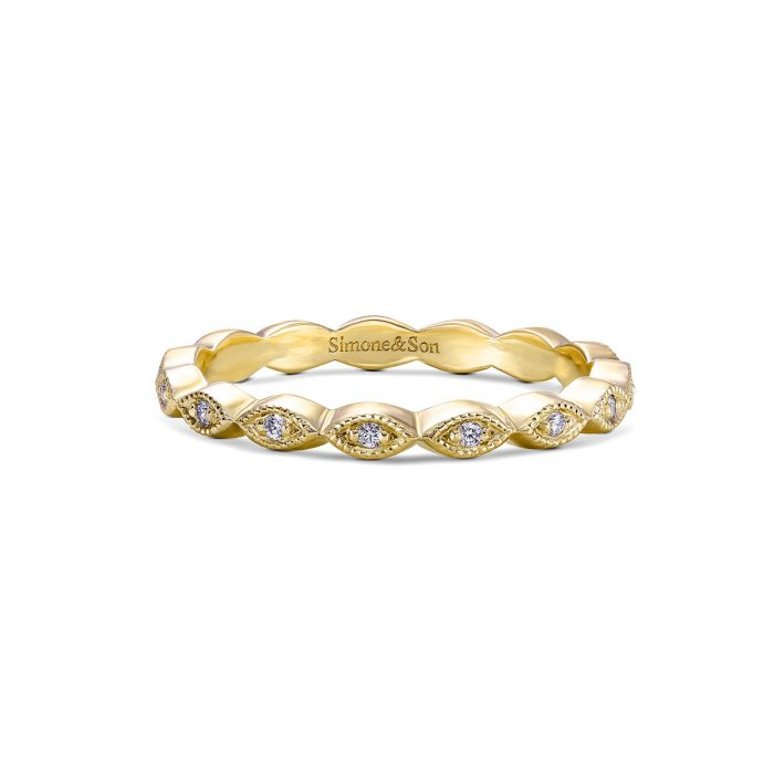 Marquise Diamond Eternity Wedding Band By Simone and Son