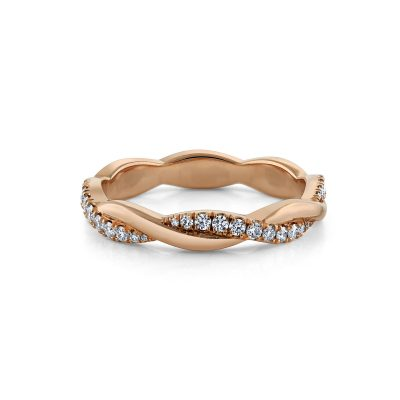 Twist Diamond Wedding Band by Simone and Son