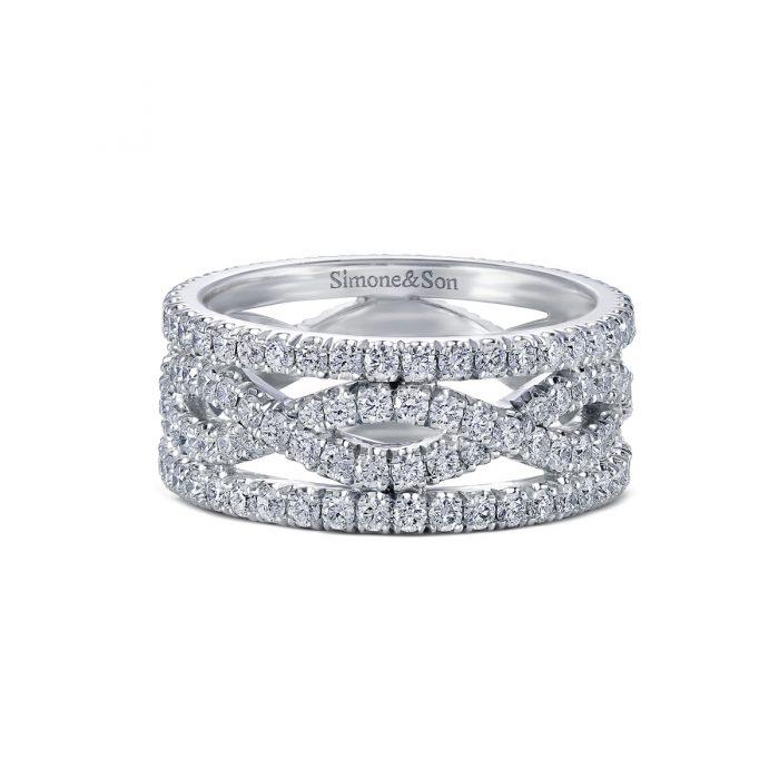 Eternity Twist Diamond Wedding Band
