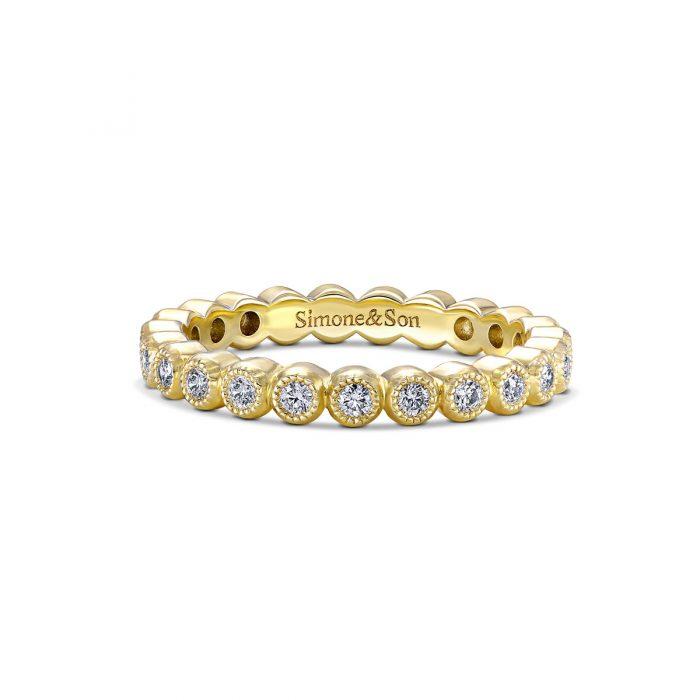 Eternity Bezel Diamond Wedding Band