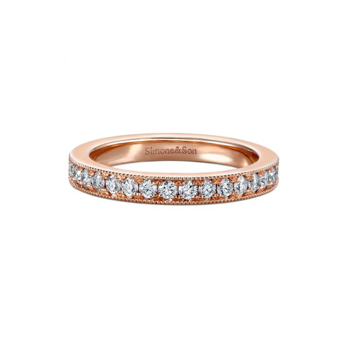 Pave Diamond Eternity Band by Simone and Son