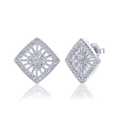 Diamond Halo Earrings by Simone and Son