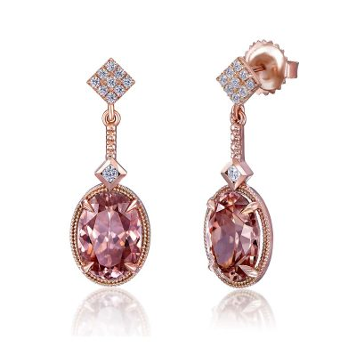Zircon Dangle Earring By Simone and Son Jewelers